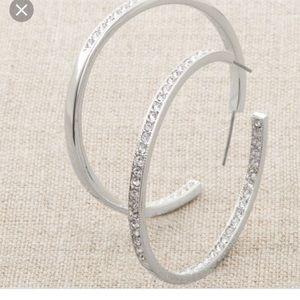 Touchstone crystal hoop earrings